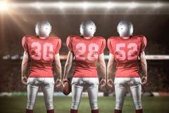 Samengesteld beeld van Amerikaans 3D voetbalteam Stock Foto's