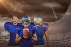 Samengesteld beeld van Amerikaans voetbalteam Stock Afbeelding
