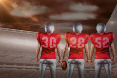 Samengesteld beeld van Amerikaans voetbalteam Stock Afbeeldingen