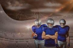 Samengesteld beeld van Amerikaans voetbalteam Stock Foto