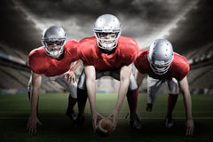 Samengesteld beeld van Amerikaanse 3D voetbalsters Royalty-vrije Stock Foto