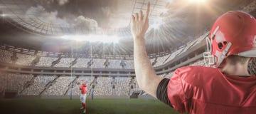 Samengesteld beeld van Amerikaanse 3D voetbalsters Stock Afbeelding