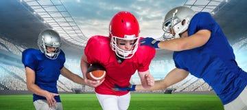 Samengesteld beeld van Amerikaanse voetbalsters Royalty-vrije Stock Afbeelding