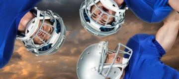 Samengesteld beeld van Amerikaanse voetbalwirwar Royalty-vrije Stock Afbeeldingen