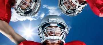 Samengesteld beeld van Amerikaanse voetbalwirwar Stock Afbeeldingen