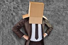 Samengesteld beeld van anonieme zakenman met handen op heupen royalty-vrije stock afbeeldingen