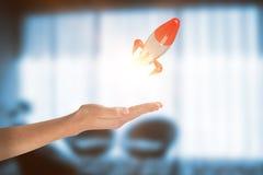 Samengesteld beeld van bebouwd beeld van 3d vrouwenhand Stock Fotografie