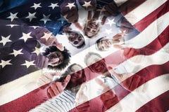 Samengesteld beeld van bebouwde Amerikaanse vlag Royalty-vrije Stock Foto's