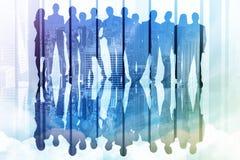 Samengesteld beeld van bedrijfsmensen Stock Afbeelding