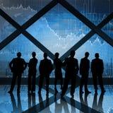Samengesteld beeld van bedrijfsmensen Stock Foto's