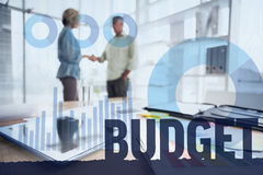 Samengesteld beeld van begroting royalty-vrije stock afbeelding