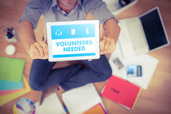 Samengesteld beeld van beige nodig vrijwilligers royalty-vrije stock foto