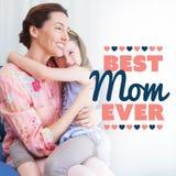 Samengesteld beeld van beste mamma ooit Royalty-vrije Stock Foto's