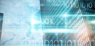 Samengesteld beeld van blauw technologieontwerp met binaire code Royalty-vrije Stock Fotografie