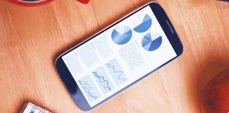 Samengesteld beeld van blauwe pictogrammen op witte achtergrond Royalty-vrije Stock Afbeeldingen