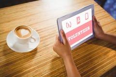 Samengesteld beeld van blauwe vrijwilliger Stock Foto
