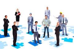 Samengesteld beeld van commercieel team royalty-vrije stock afbeelding