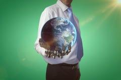 Samengesteld beeld van 3d aardebol Royalty-vrije Stock Foto
