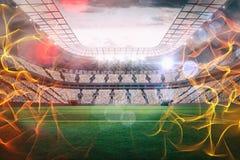 Samengesteld beeld van 3d bal van brand Royalty-vrije Stock Afbeelding