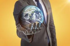 Samengesteld beeld van 3d beeld van aarde Royalty-vrije Stock Afbeeldingen