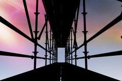 Samengesteld beeld van 3d beeld van bouwsteiger Stock Afbeeldingen