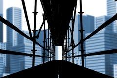 Samengesteld beeld van 3d beeld van bouwsteiger Stock Foto