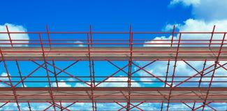 Samengesteld beeld van 3d beeld van bouwsteiger Royalty-vrije Stock Foto's