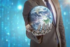 Samengesteld beeld van 3d bol van aarde Royalty-vrije Stock Afbeelding