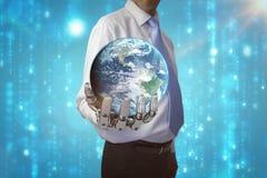 Samengesteld beeld van 3d bol van aarde Stock Afbeeldingen