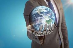 Samengesteld beeld van 3d bol van aarde Royalty-vrije Stock Afbeeldingen