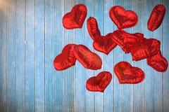 Samengesteld beeld van 3d hartballons Stock Foto