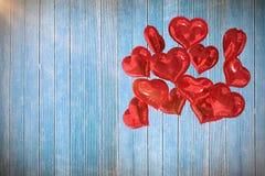 Samengesteld beeld van 3d hartballons Stock Afbeelding