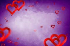 Samengesteld beeld van 3d harten Stock Afbeelding