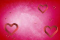 Samengesteld beeld van 3d harten Stock Foto's
