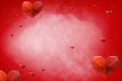 Samengesteld beeld van 3d harten Stock Foto