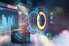 Samengesteld beeld van 3d servertoren Stock Afbeeldingen