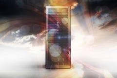 Samengesteld beeld van 3d servertoren Royalty-vrije Stock Afbeelding