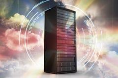 Samengesteld beeld van 3d servertoren Royalty-vrije Stock Foto's