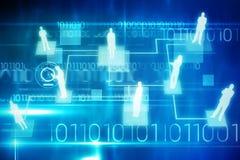 Samengesteld beeld van 3d technologieinterface Stock Afbeelding