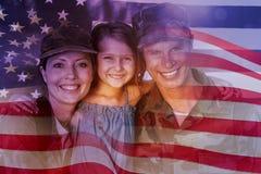 Samengesteld beeld van de digitaal geproduceerde nationale vlag van Verenigde Staten stock afbeelding