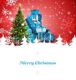 Samengesteld beeld van de kaart van de Kerstmisgroet Stock Afbeelding