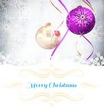 Samengesteld beeld van de kaart van de Kerstmisgroet Stock Afbeeldingen
