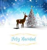 Samengesteld beeld van de kaart van de Kerstmisgroet Royalty-vrije Stock Foto