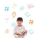 Samengesteld beeld van de krabbels van de schoolactiviteit Stock Fotografie