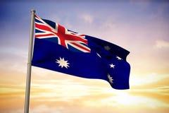 Samengesteld beeld van de nationale vlag van Australië Stock Afbeelding