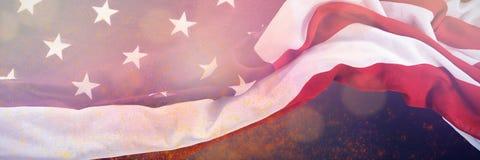 Samengesteld beeld van de vlag van Verenigde Staten Stock Afbeeldingen