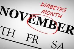 Samengesteld beeld van diabetesmaand vector illustratie