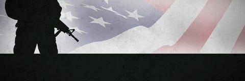 Samengesteld beeld van dichte omhooggaand van ons vlag stock afbeelding