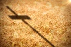 Samengesteld beeld van dichte omhooggaand van 3d houten kruis Stock Foto's