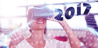 Samengesteld beeld van digitaal beeld van nieuw jaar 2017 Royalty-vrije Stock Foto